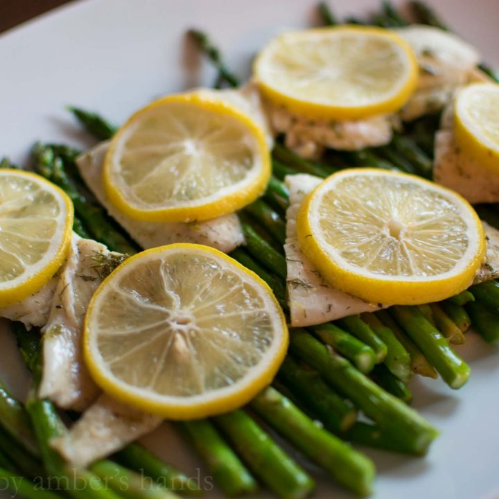 Lemony Fish and Asparagus Sheet Pan