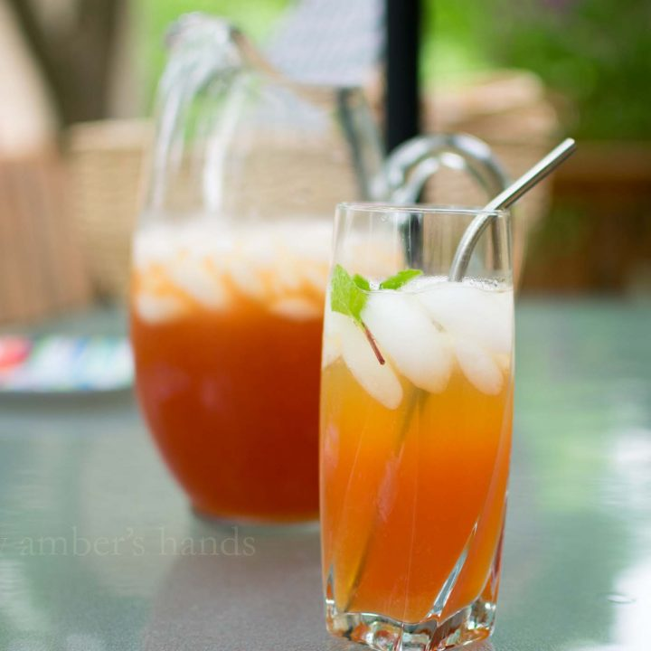 Bourbon Peach Tea Cocktail -by amber's hands-