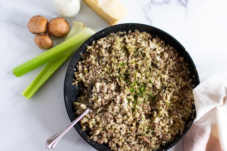 Beef and Cauliflower Rice Skillet