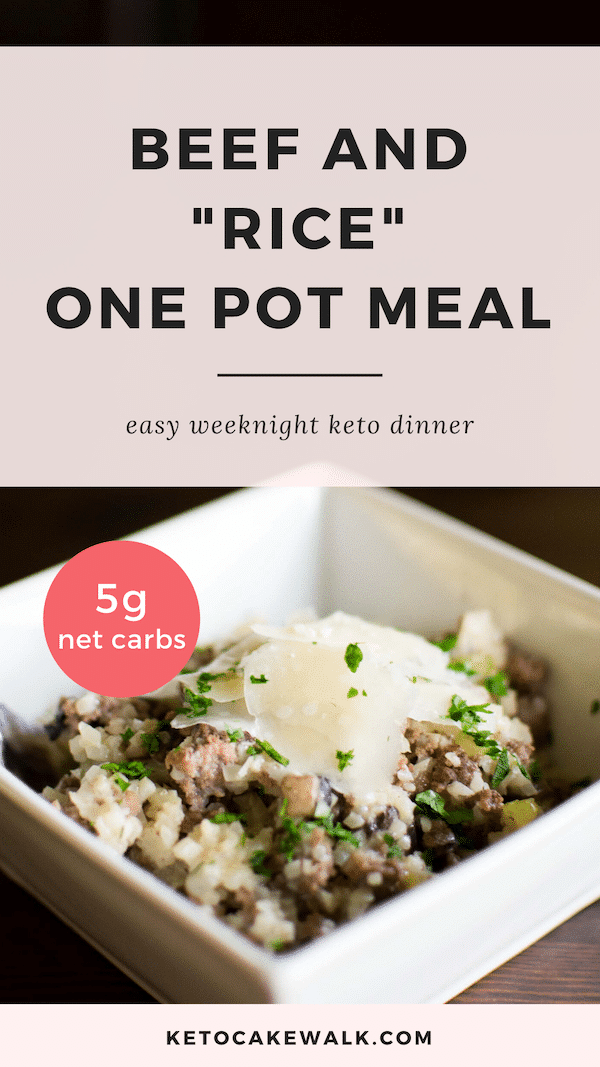 This one skillet meal comes together in 30 minutes! Homey and unpretentious, this meal is simple comfort food. #lowcarb #keto #dinner #skillet #onepot #easy #weeknight #glutenfree #grainfree