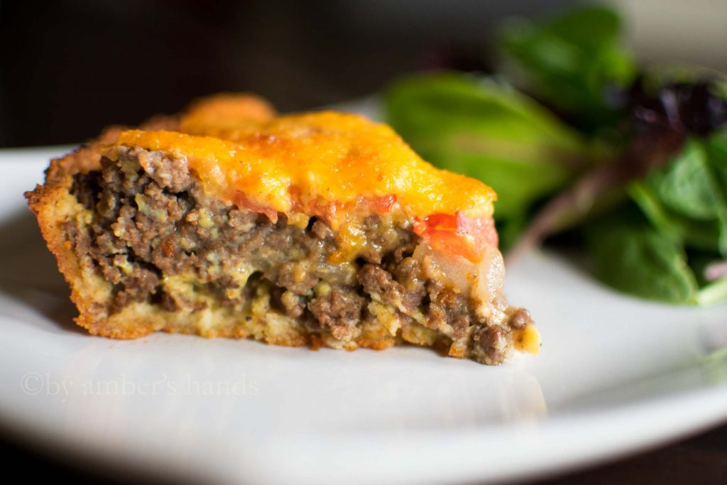 Low Carb Cheeseburger Pie - Ground Beef Recipes -keto cake walk-