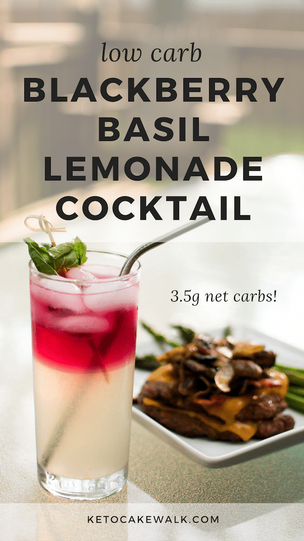 This herbacious cocktail combines basil, blackberries, and lemonade to create a gorgeous low carb cocktail, perfect for summer barbecues!