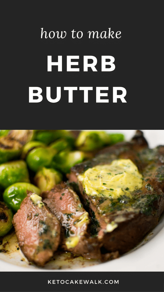 Stock your freezer with this herb butter and you can turn almost any meal into something that looks and tastes like it came from a culinary master. #herbbutter #easy #keto #lowcarb #glutenfree #butter #herbs #steak #chicken #fish #pork #veggies