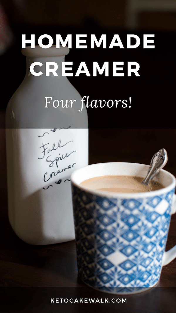 Get rid of the nasty ingredients in your coffee creamer by making your own and wean yourself off sugar in the process! #lowcarb #keto #coffee #creamer #paleo #whole30 #vegan #dairyfree #psl
