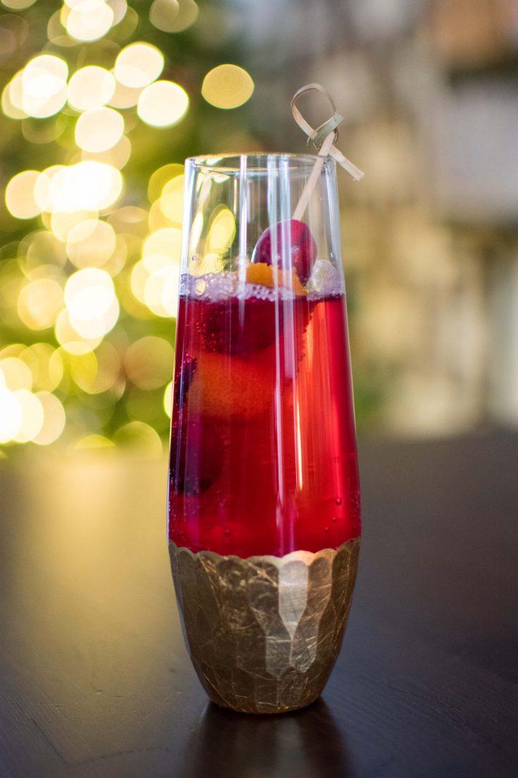 Spiced Cranberry Sprizer