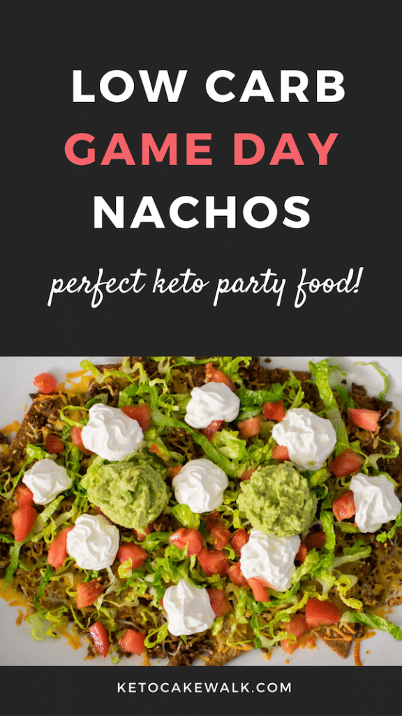 A simple swap means you can still have amazing nachos without going over your carbs! The perfect keto party or tailgating food! #lowcarb #keto #nachos #snacks #tailgating #glutenfree #grainfree