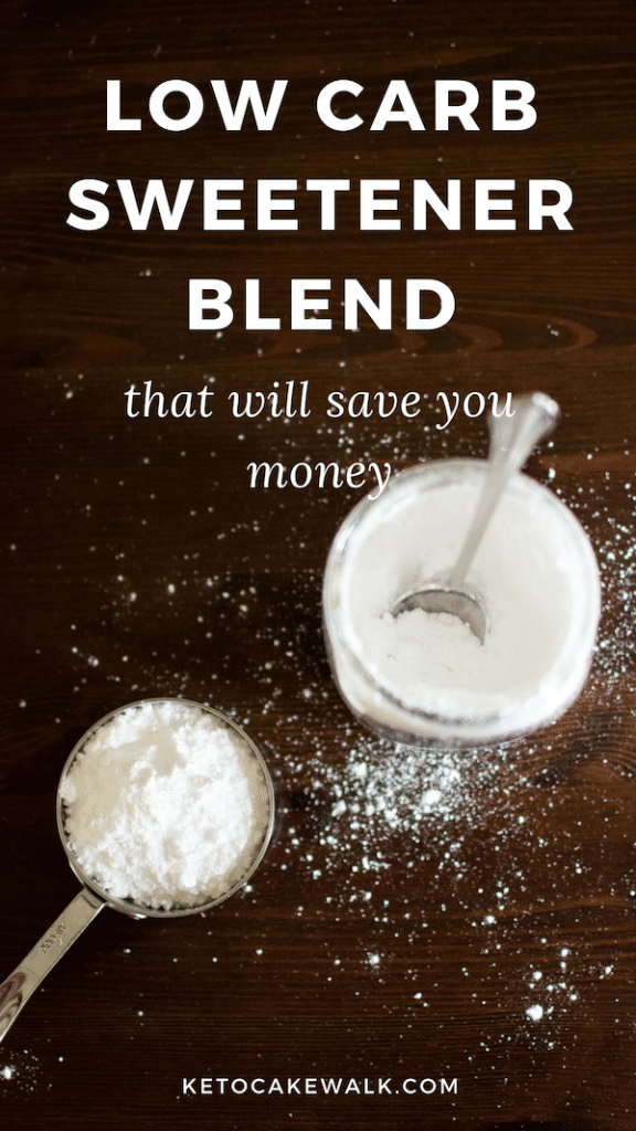 Make your own low carb sweetener blend at home and save a ton of money! This blend is the best tasting of all the low carb sweeteners. #lowcarb #keto #sweetener #recipe