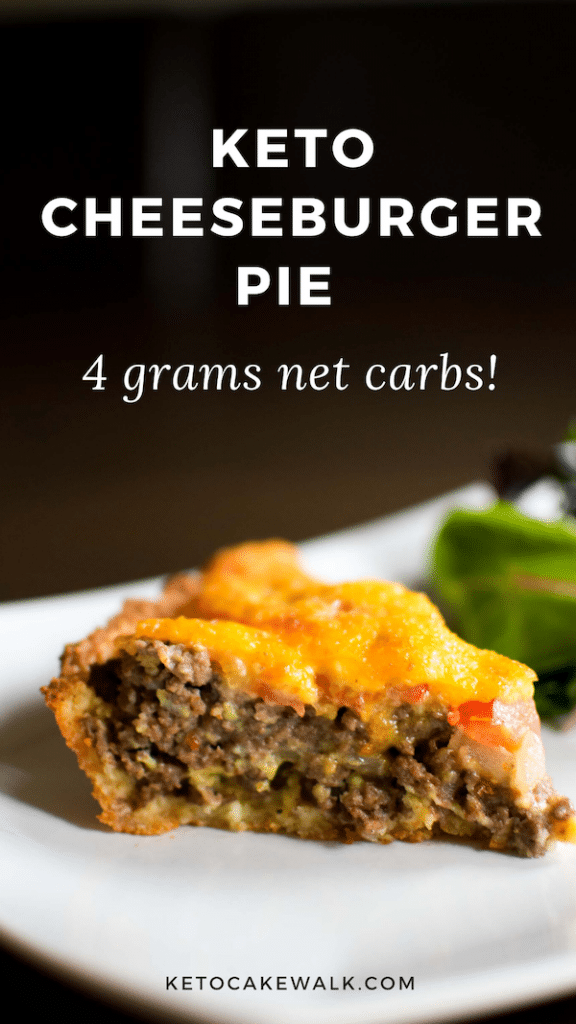 Low Carb Cheeseburger Pie is an easy and delicious weeknight meal that the family will love! #keto #lowcarb #dinner #easy #cheeseburger #glutenfree #grainfree