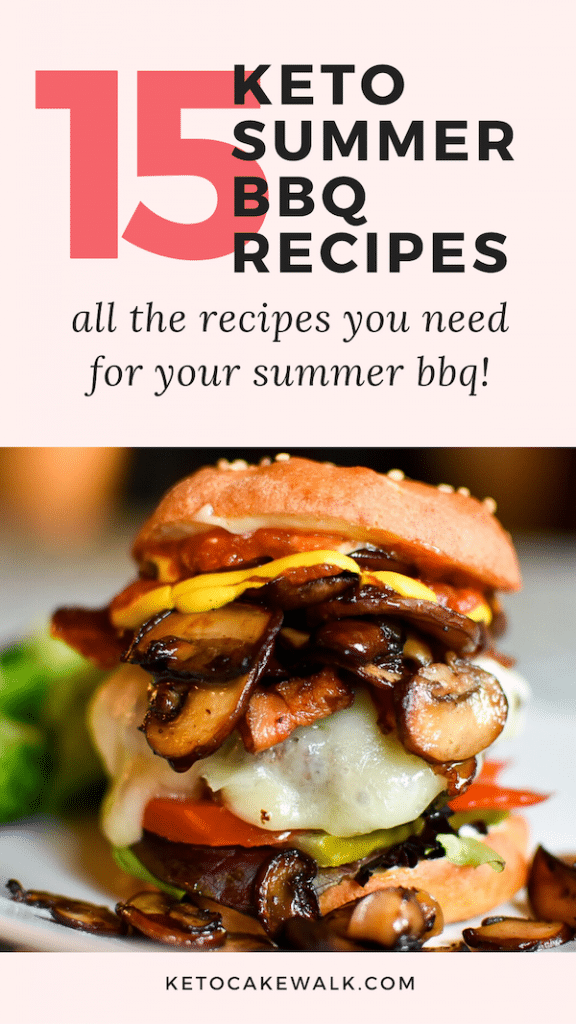 Summer means cook outs! These keto summer bbq recipes will take you from mains to sides to drinks to desserts all while keeping your carbs low!  #summer #bbq #keto #lowcarb #glutenfree #grainfree #4thofJuly #cookout #barbecue #grilling