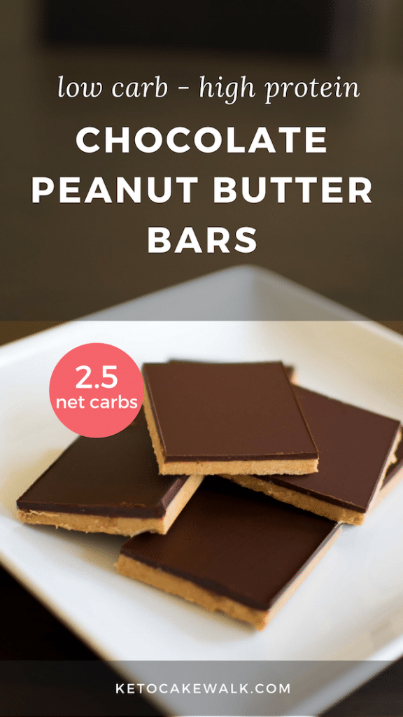 Keto Chocolate Peanut Butter No Bake Bars - Ready In 15 Minutes! #lowcarb #keto #peanutbutter #chocolate #protein #bars #dessert #snacks #nobake