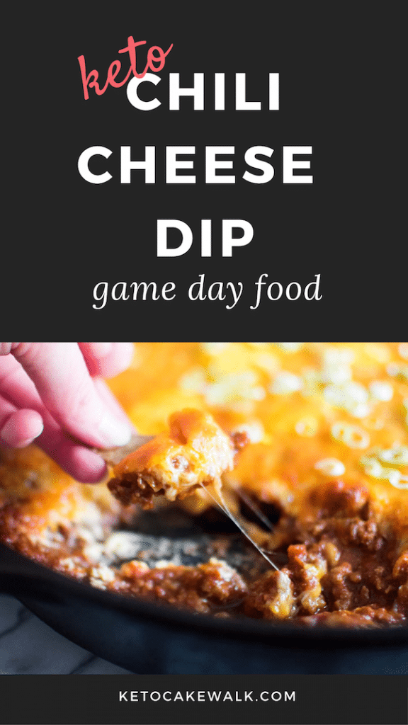 Keto Chili Cheese Dip is so easy and delicious and works for any party! Great as an appetizer or just a fun weeknight dinner! #keto #lowcarb #chili #cheese #dip #party #appetizer #easy #glutenfree #grainfree