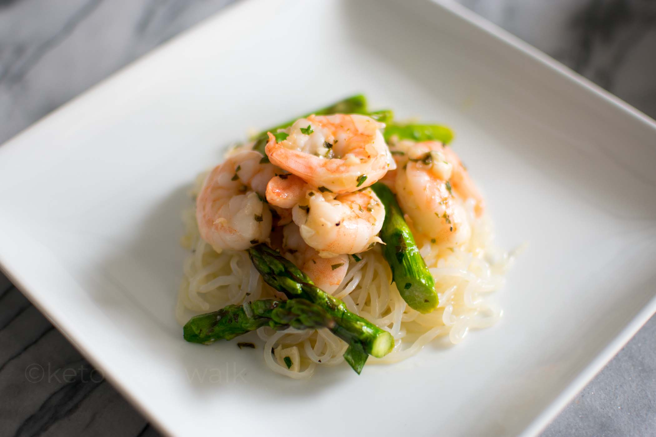 Sheet Pan Shrimp & Asparagus Scampi -keto cake walk-