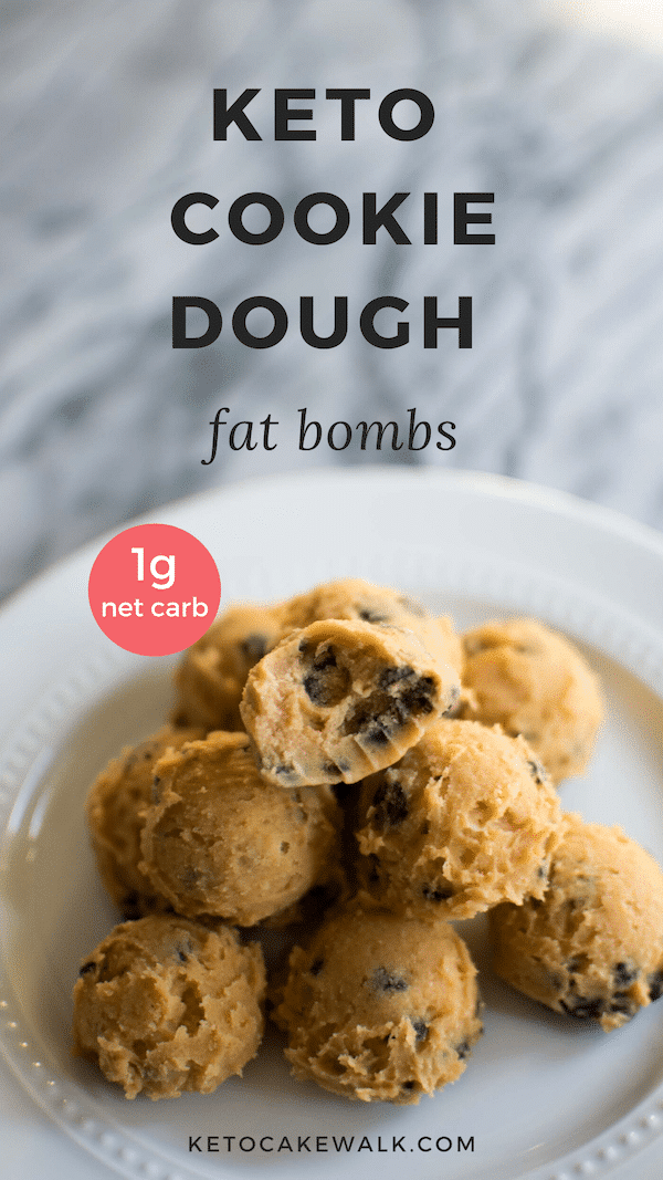 A secret ingredient makes these keto cookie dough bites so much like the real deal, you won't even notice the difference! #keto #lowcarb #cookiedough #fatbombs #glutenfree #grainfree #sugarfree