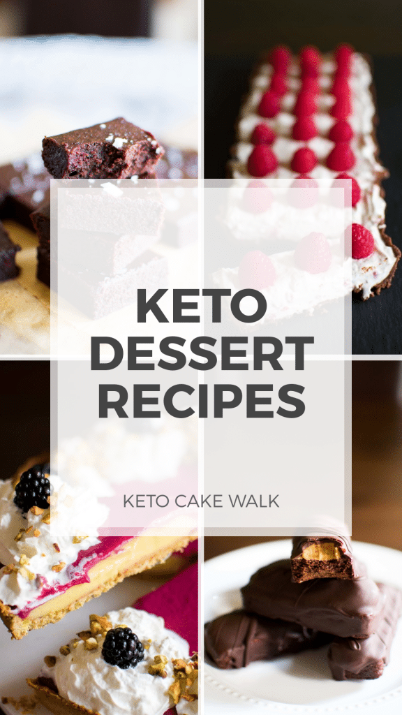 You can still have desserts when you go on a keto diet, and you'll find tons of recipes here! #keto #desserts #recipes #treats #sugarfree #glutenfree #grainfree #lowcarb #brownies #cheesecake #tarts #candy #pies