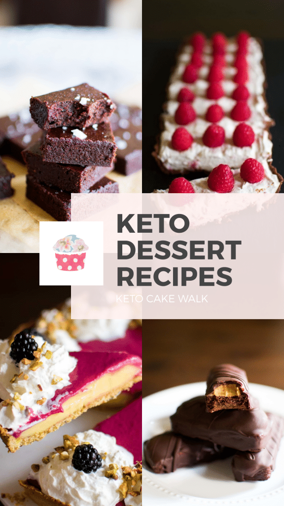TONS of recipes for keto desserts all in one place! Continually updated so you'll never be without your favorite treats! #keto #desserts #recipes #treats #sugarfree #glutenfree #grainfree #lowcarb #brownies #cheesecake #tarts #candy #pies