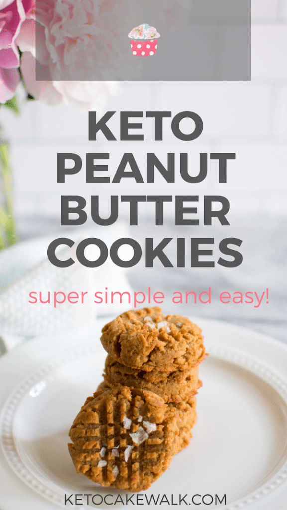 These salted keto peanut butter cookies take the humble peanut butter cookie and elevated it to new levels of flavor-- all while keeping them super easy to make! #keto #lowcarb #cookies #peanutbutter #desserts #treats #glutenfree #grainfree #sugarfree