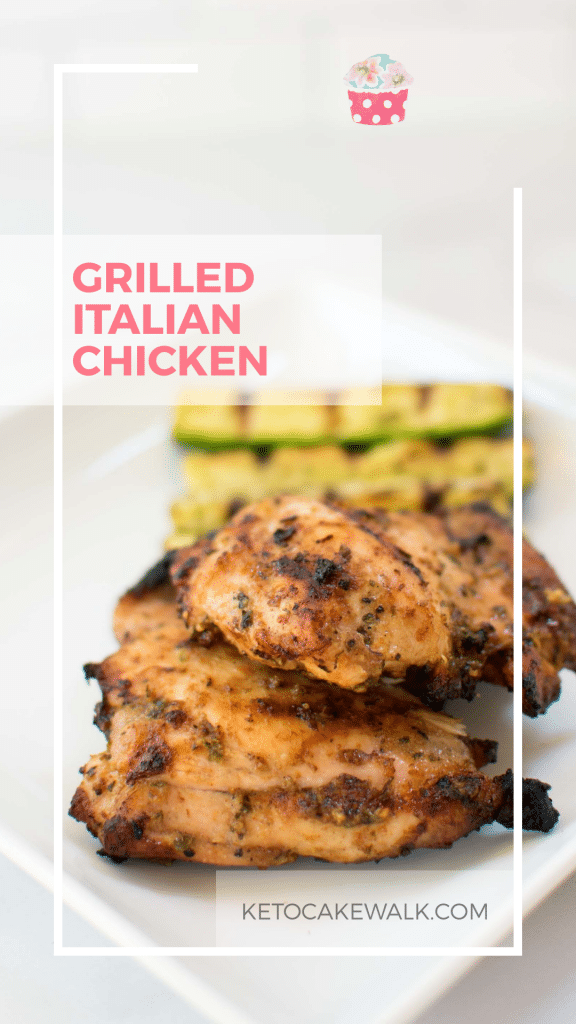 This super easy grilled Italian chicken  will wow you with both it's delicious flavor and its minimal prep! Only 1.2g net carbs! #lowcarb #keto #chicken #grilled #italian #easy #glutenfree #grainfree #sugarfree #dinner