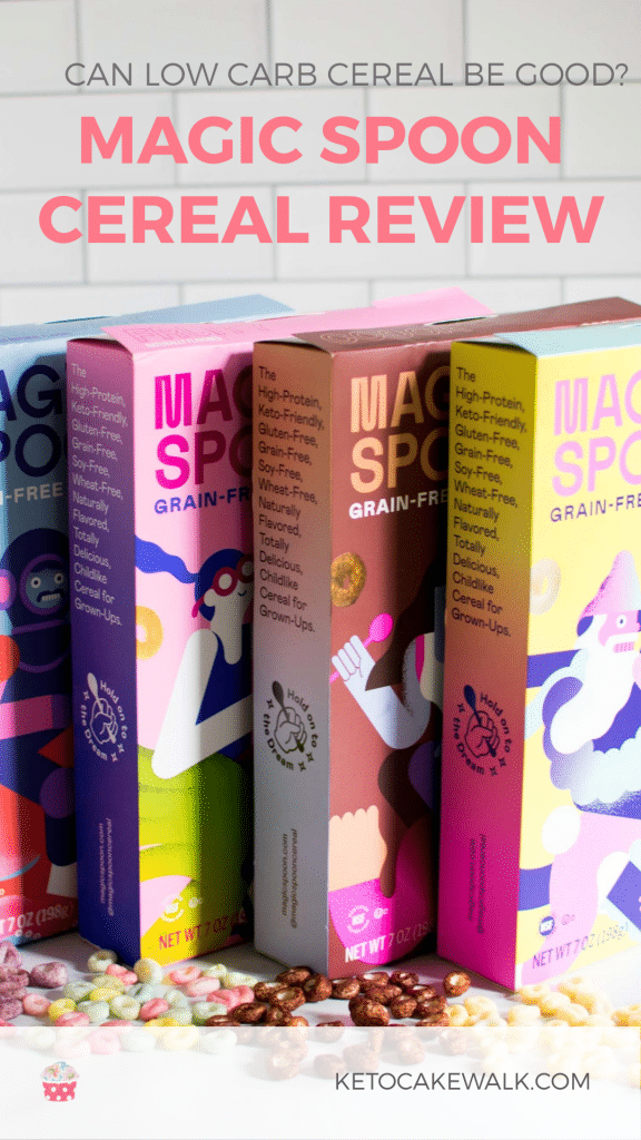 Is low carb cereal really a thing? Does it taste any good? Is it made with clean ingredients? Check out my review of Magic Spoon cereal and find out! #magicspoon #cereal #review #lowcarb #keto #breakfast #snacks #kids #glutenfree #grainfree #sugarfree