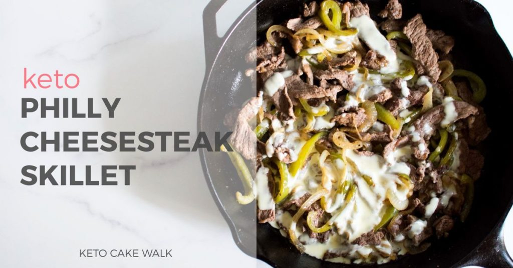 Keto Philly Cheesesteak -keto cake walk-
