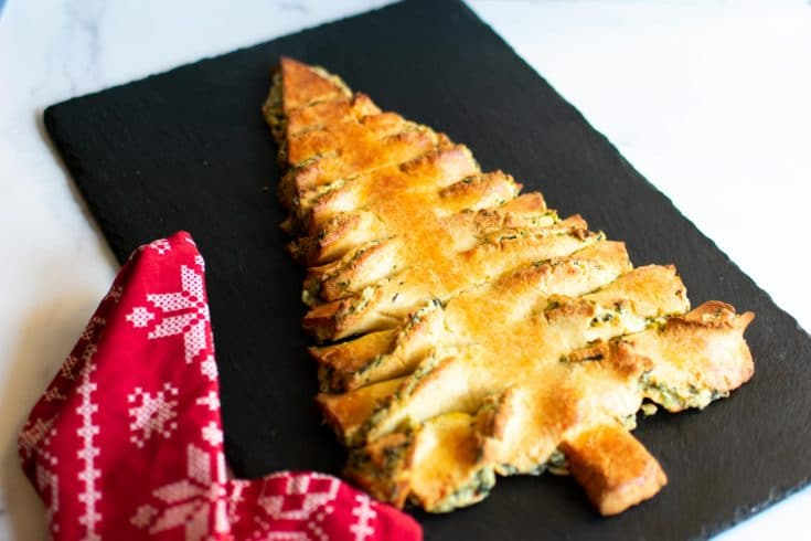 Keto Spinach Artichoke Christmas Tree Appetizer