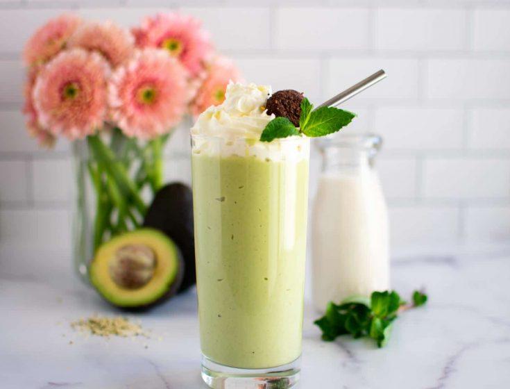 Easy Keto Mint Shake {Healthy Shamrock Copycat}