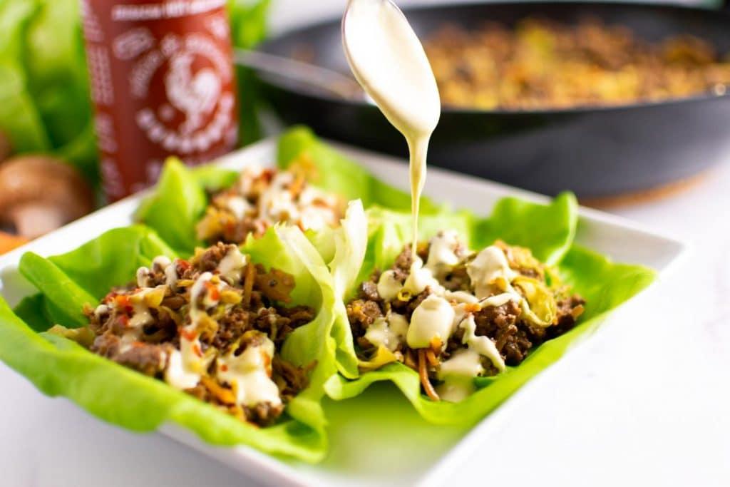 Asian Lettuce Wraps -keto cake walk-