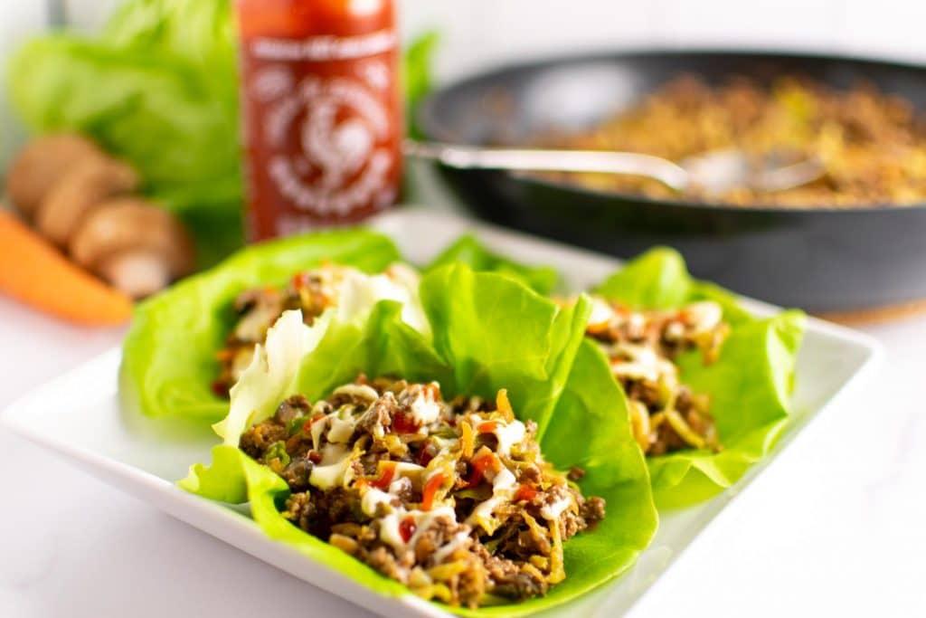 Asian Lettuce Wraps - Easy Keto Dinners for the Whole Family -keto cake walk-