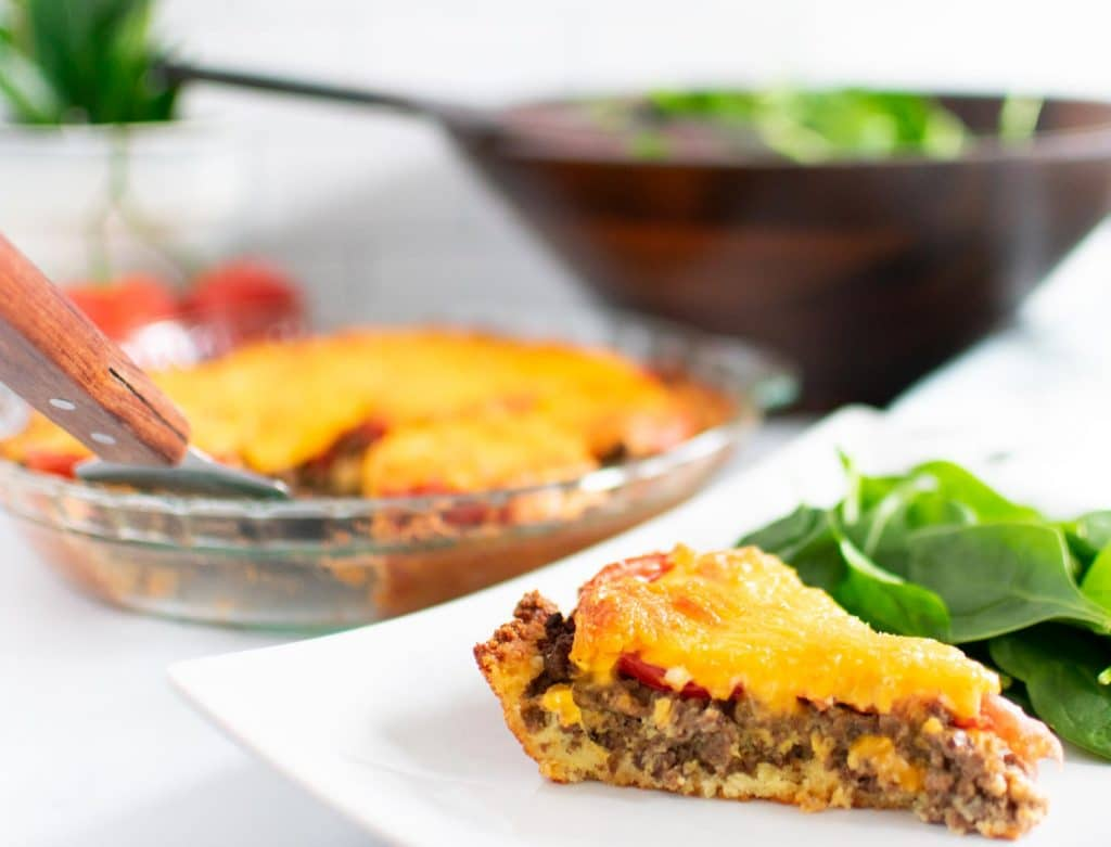 Low Carb Cheeseburger Pie - Easy Keto Dinners for the Whole Family -keto cake walk-
