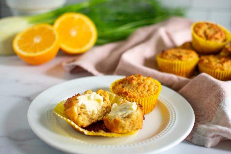 Keto Fennel Orange Muffins